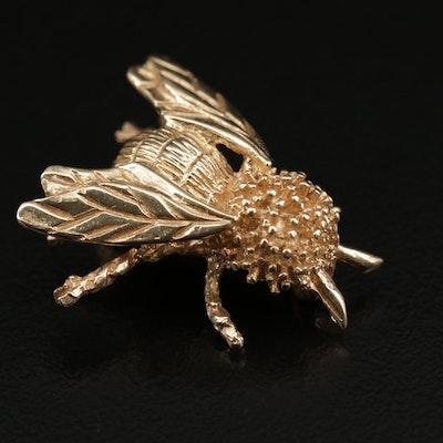14K Bumblebee Brooch
