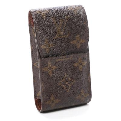 Louis Vuitton Monogram Coated Canvas and Leather Cigarette Case
