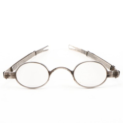 McAllister Coin Silver Model 16 Adjustable Eyeglasses, Mid-19th Century