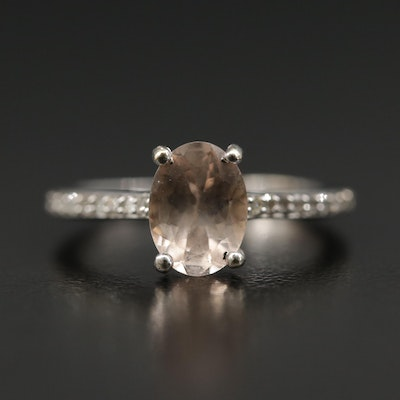 10K Morganite and Diamond Ring