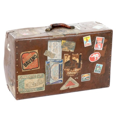 Travel Leatherette Luggage Case, Early 20th Century