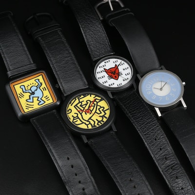 "Collection of Quartz Fashion Watches Including Keith Haring ""Pop Art"""