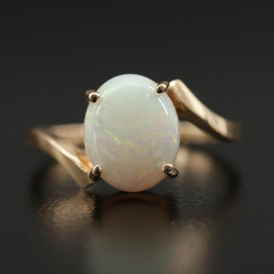 14K Opal Bypass Ring