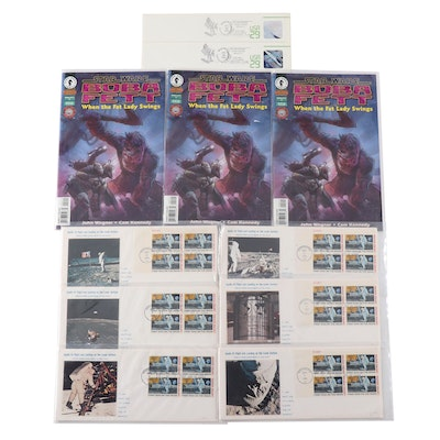 "Apollo XI ""First Man on the Moon"" USPS First Day Covers and Star Wars Comics"