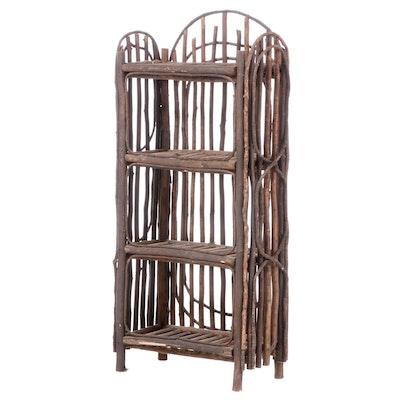 Rustic Twig Bookcase Shelf