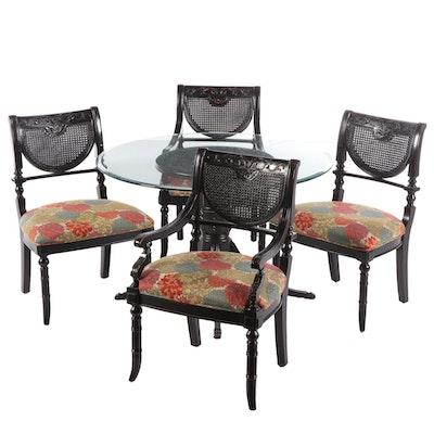 """Largo Furniture Regency Style """"Heritage"""" Ebonized Wood Dining Set"""