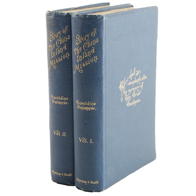 """1893-1894 """"The Story of the China Inland Mission"""" by M. G. Guinness, Two Volumes"""