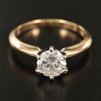 14K Gold 1.16 CT Diamond Solitaire Ring