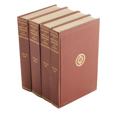 """1906 """"Michigan As a Province, Territory and State"""", Four Volume Set"""