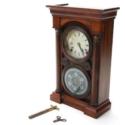 E. Ingraham & Co Eight-Day Rosewood Mantel Clock, 1861