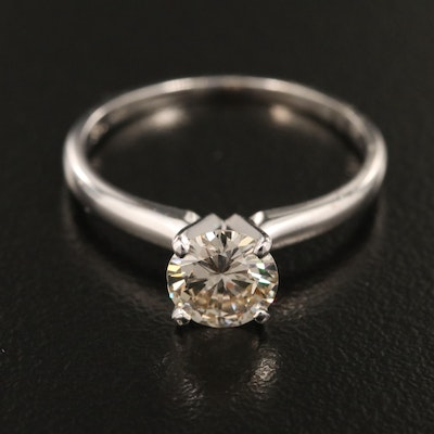 14K 0.90 CT Diamond Solitaire Ring