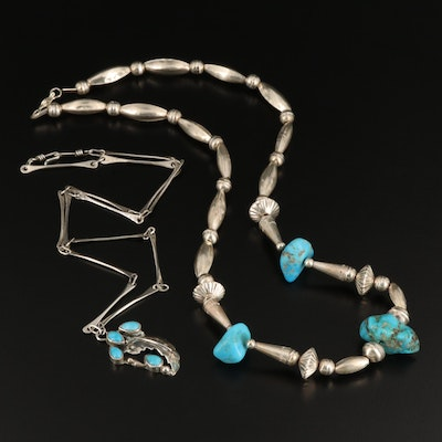 Western Sterling Silver Turquoise Necklaces