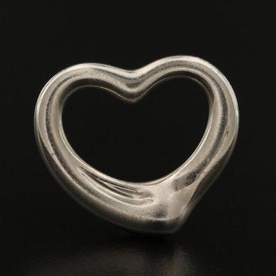 """Elsa Peretti For Tiffany & Co. """"Open Heart"""" Sterling Silver Pendant"""