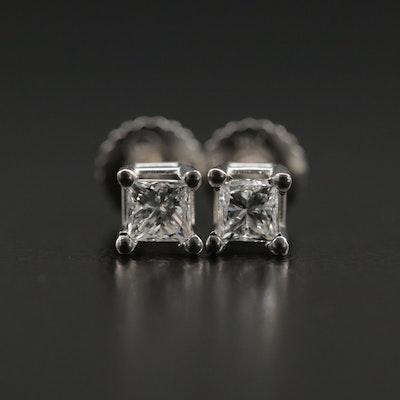 18K Gold 0.40 CTW Diamond Stud Earrings