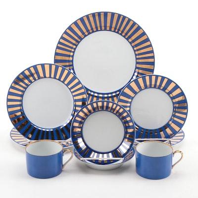"Fitz & Floyd ""Tutankhamun"" Ceramic Dinnerware, Late 20th Century"