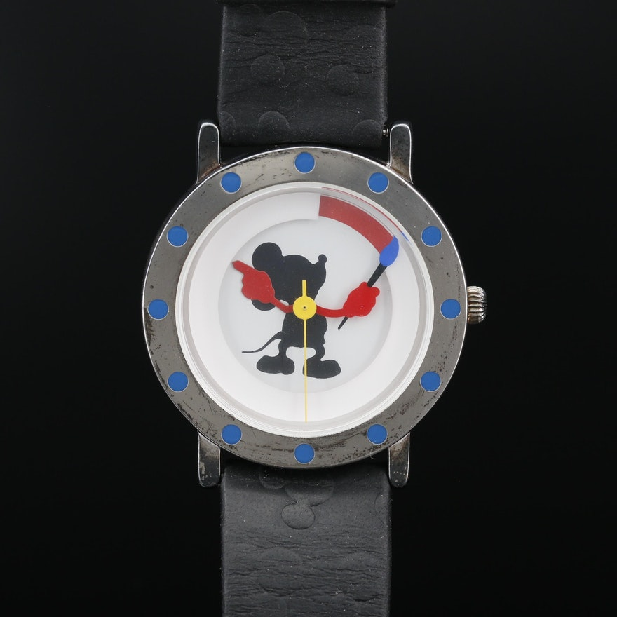 Michael Graves Limited Edition Mickey Mouse Painter Quartz Wristwatch