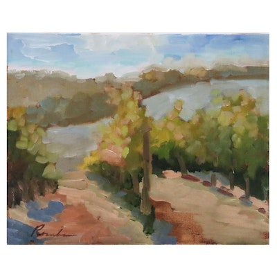 Sally Rosenbaum Landscape Oil Painting, 20th to 21st century