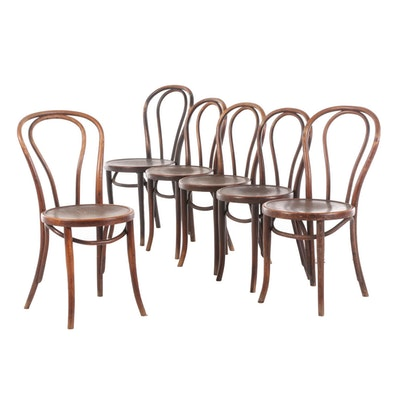 Bentwood Bistro Side Chairs, Early 20th Century