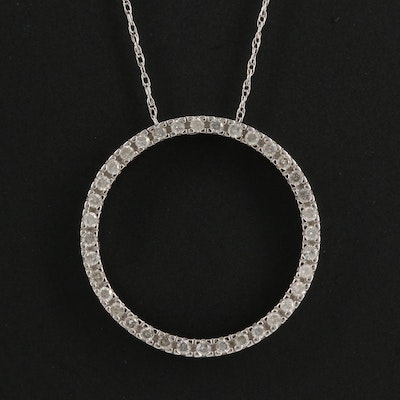 14K Diamond Concentric Necklace