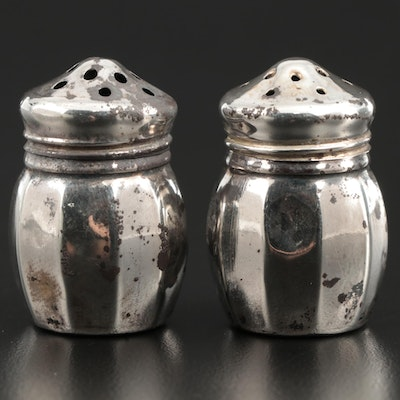 V. Lollo Sterling Silver Individual Salt and Pepper Shakers, Mid-20th Century