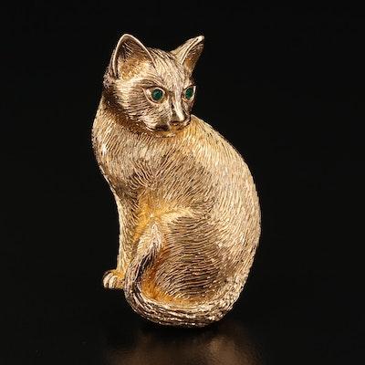 Christian Dior Cat Brooch