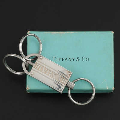 "Tiffany & Co. ""Atlas"" Sterling Silver Key Ring with Box, 2004"