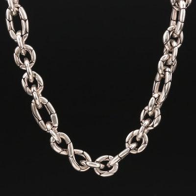"John Hardy ""Kali Pebble"" Sterling Link Necklace"