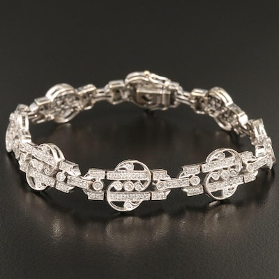 18K White Gold  2.00 CTW Diamond Bracelet