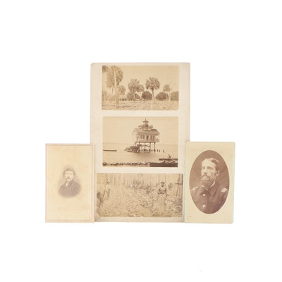 Photographs of U.S. Union Soldiers and a Carolina Farm, Mid-19th Century