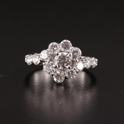 14K 1.50 CTW Diamond Bypass Ring