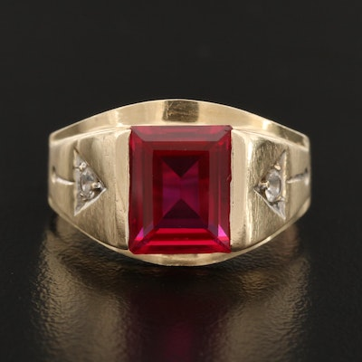 10K Ruby and Spinel Ring