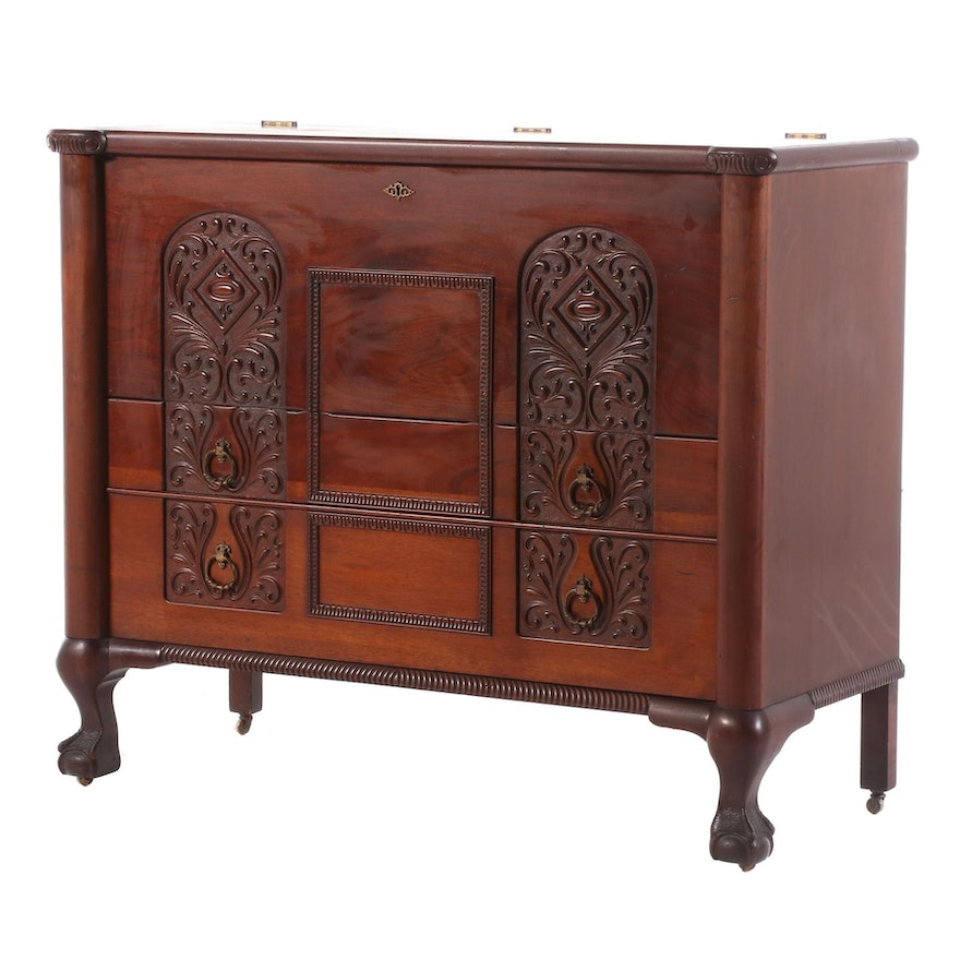 Dutch Baroque Style Cedar Chest, Early 20th Century