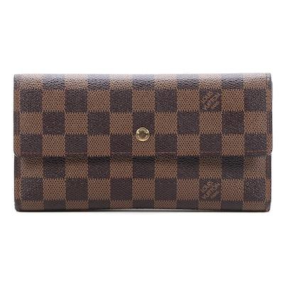 Louis Vuitton Porte Tresor Wallet in Damier Ebene Canvas