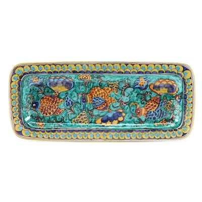 Italian Orvieto Hand-Painted Maiolica Serving Tray