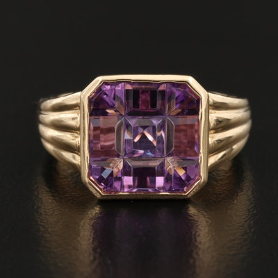 14K Gold Amethyst Ring
