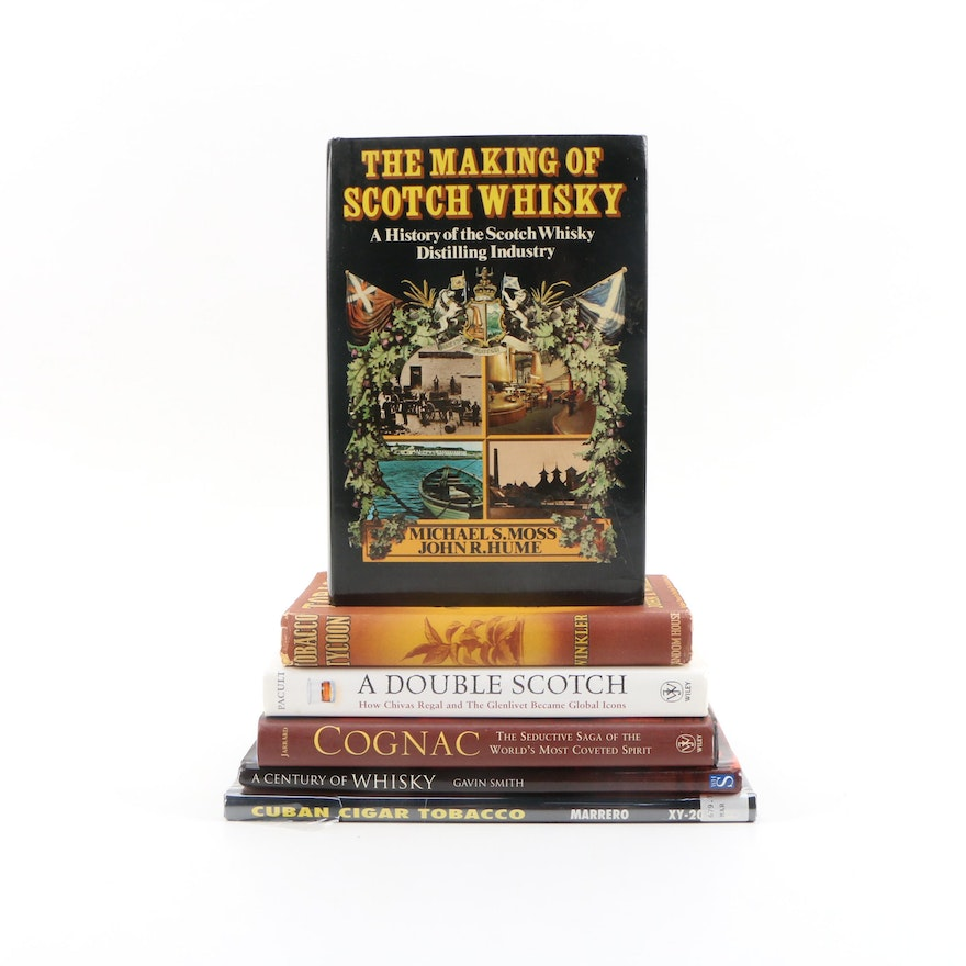 """First Edition """"The Making of Scotch Whisky"""" with More Cigar and Whisky Books"""