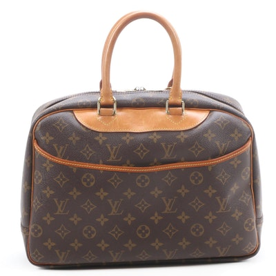 Louis Vuitton Trouville Satchel in Monogram Canvas and Vachetta Leather