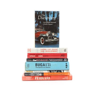 "Signed ""Ferrari, the Sports and Gran Turismo Cars"" with Other Automotive Books"