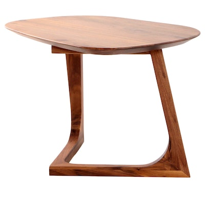 Mid Century Modern Style Walnut End Table, Contemporary