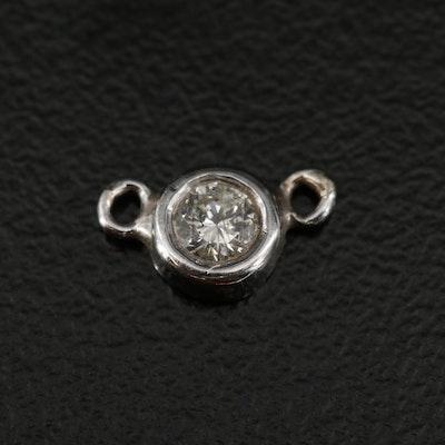 10K Diamond Necklace Centerpiece