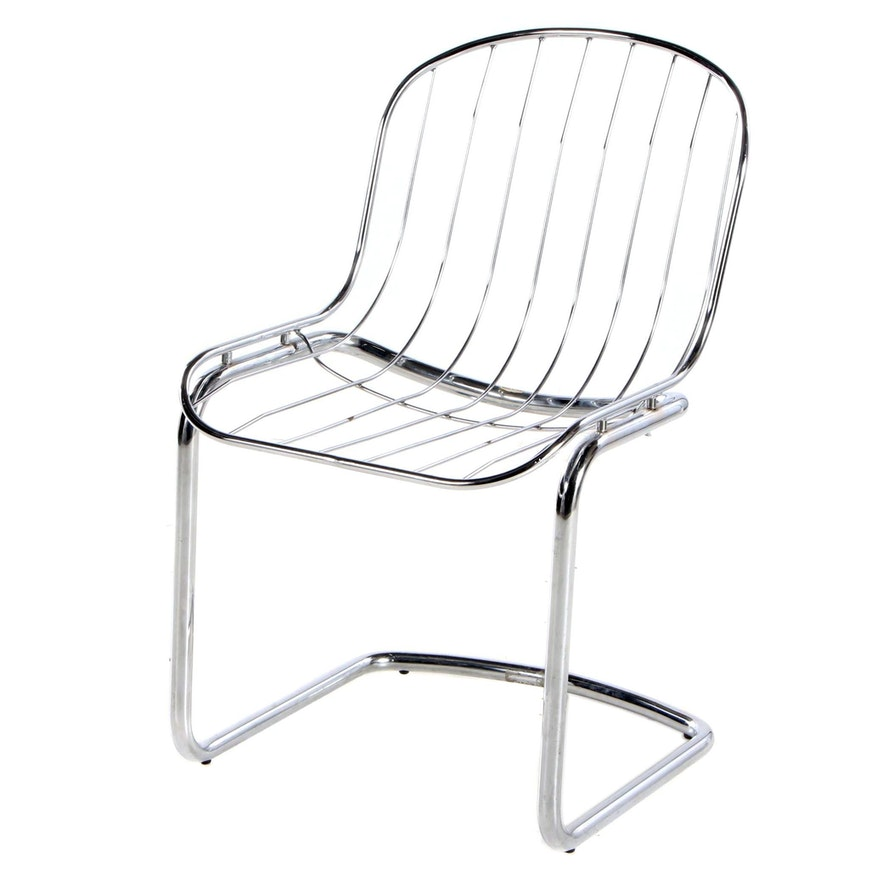 Italian Chrome Cantilever Chair