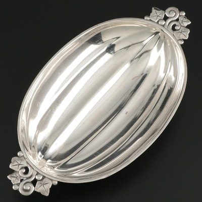 Tiffany & Co. Sterling Silver Melon Bowl with Vine Handles, 1947–1956