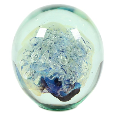 Robert Eickholt Handblown Art Glass Paperweight, 2012