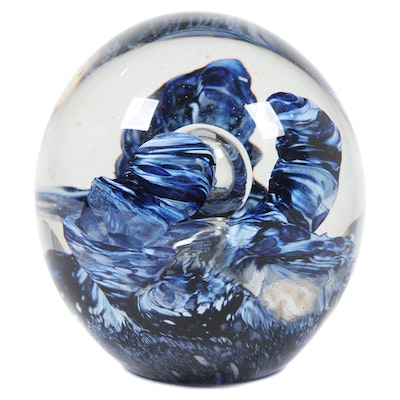 Robert Eickholt Handblown Art Glass Paperweight, 2008