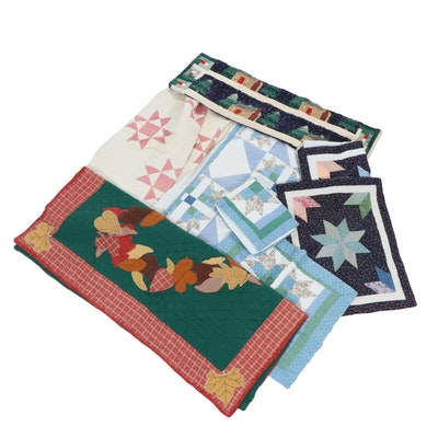 Handmade Star, Holiday, and Other Quilts and Quilted Pillowcases