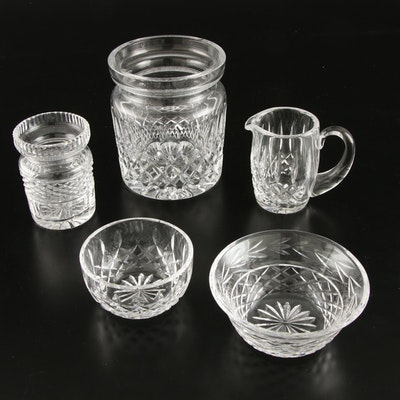 "Waterford Crystal ""Colleen"" Biscuit Barrel and Table Accessories"