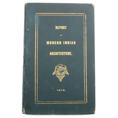 "1913 First Edition ""Types of Modern Indian Buildings"",  Signed by E. B. Haville"
