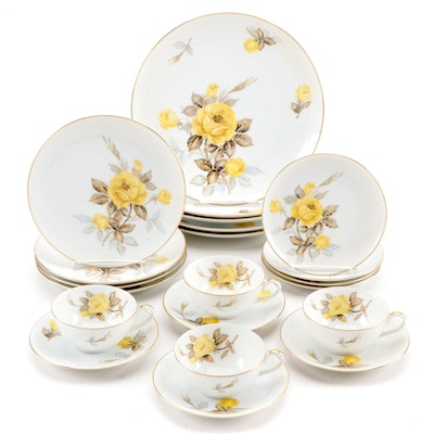 "Sango ""Cotillion"" Porcelain Dinnerware, Mid-20th Century"