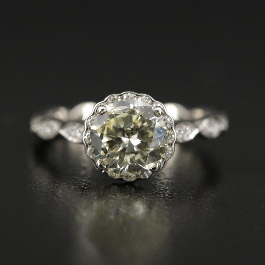Noam Carver 14K 1.85 CTW Diamond Ring