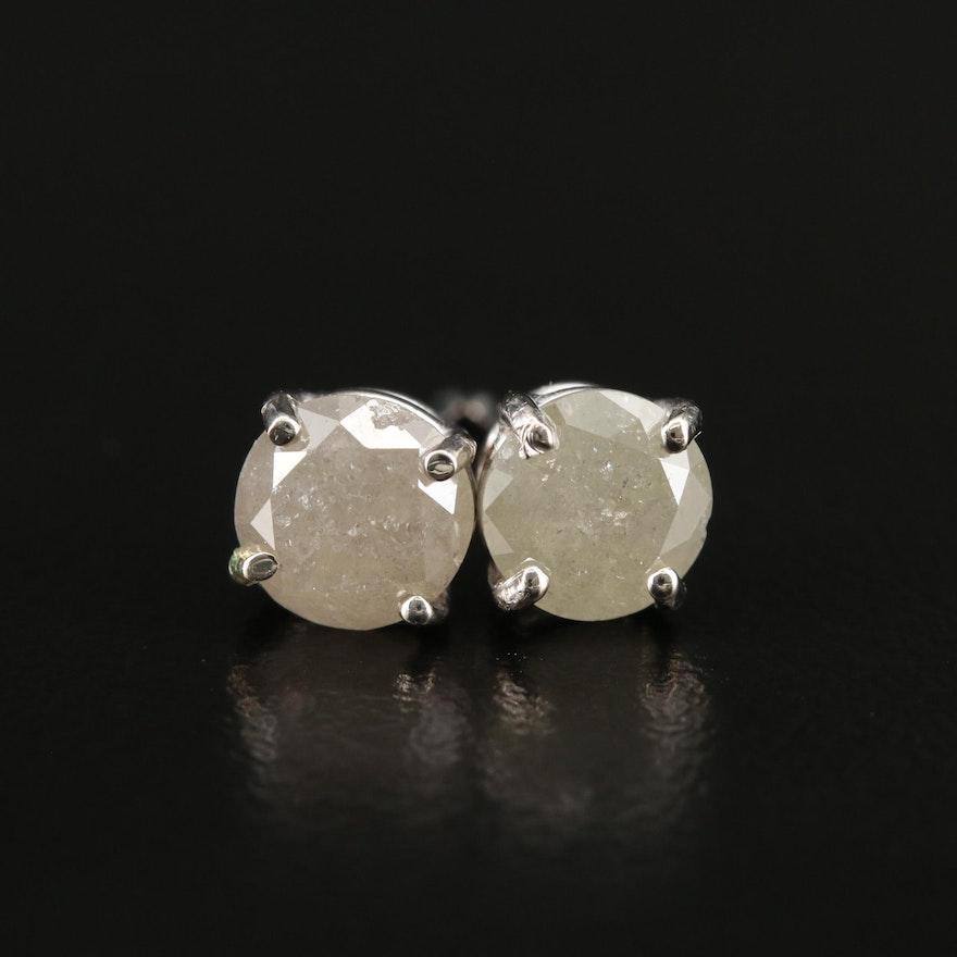 14K Gold 1.57 CTW Diamond Stud Earrings